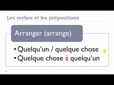 Learn French Today # The verbs and the prepositions