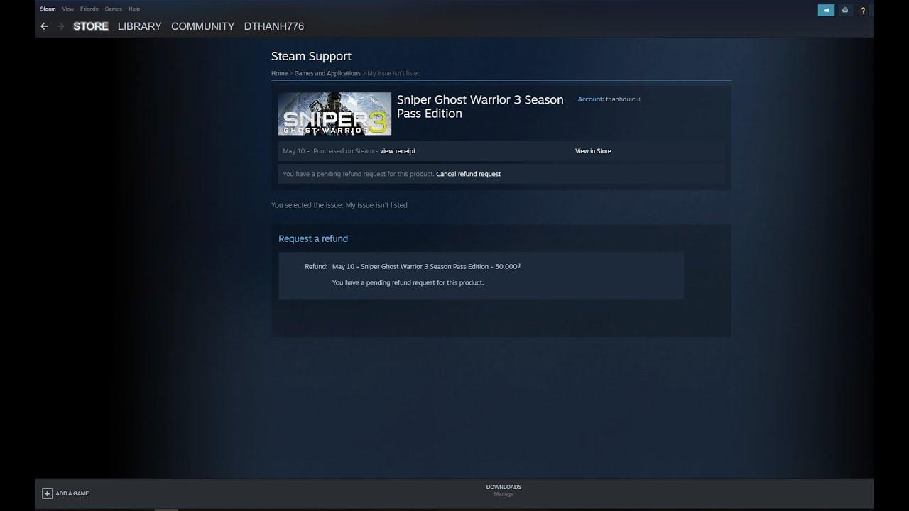 Hướng dẫn hoàn tiền, hiện FBS, thêm 1 game trên Steam