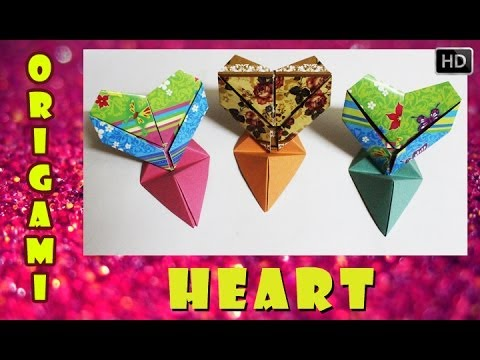 HOW TO MAKE AN ORIGAMI 3D HEART | TRADITIONAL PAPER TOY