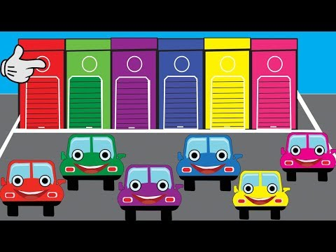 Learn Colors With Car For Kids || Nursery Rhymes || Cartoon Video For Children thumbnail