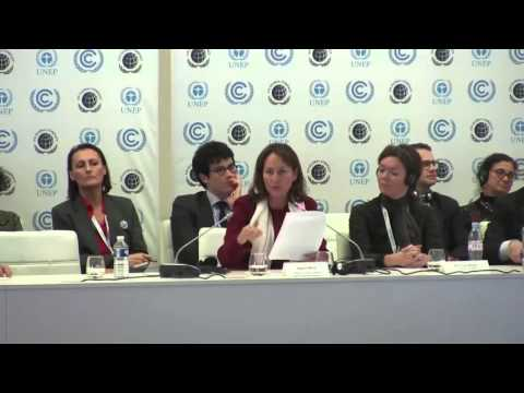 C4C Business Forum COP21 –  H.E. Ms. Segolene Royal, French Minister of Ecology, SD and Energy