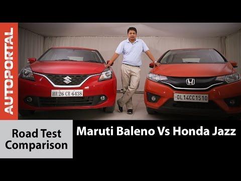 Honda Jazz Vs Maruti Suzuki Baleno Test Drive Comparison - Autoportal
