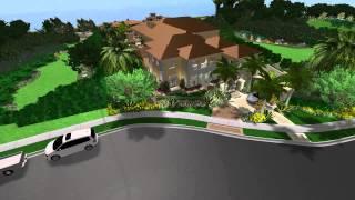 3d Landscape And Pool Design - Virtual Presentation Studio Presents Crystal Cove