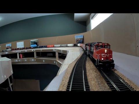 CN Caramat & Kinghorn Subs - Full Trip Around The Layout - January 2017