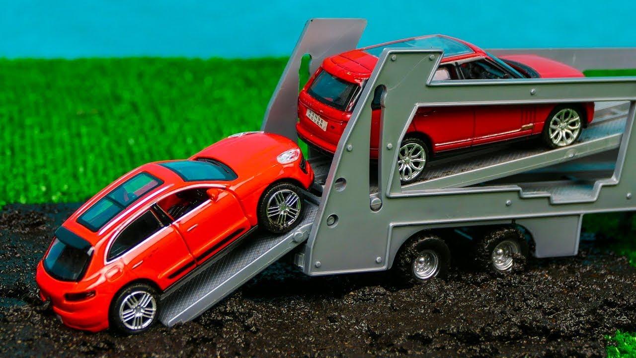 Мультфильм  про автовоз, монстер Трак, машина застряла в грязи 293 Серия Мир Машинок