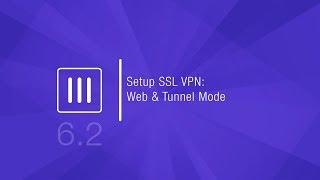 Setup SSL VPN Web & Tunnel Modes