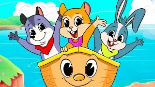 ROW ROW ROW YOUR BOAT | Kids song | Clap clap kids