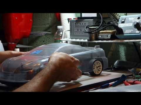 1/10th scale TC touring car body mounting/trim