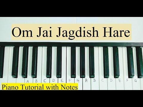 Om Jai Jagdish Hare Aarti Piano Notes and Tutorial | Hemant