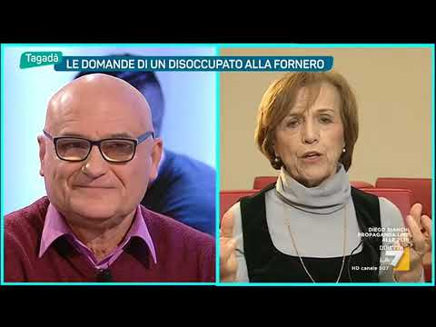 Mauro, disoccupato a Elsa Fornero: 'Mi spiace ma lei ha sbagliato tutto'