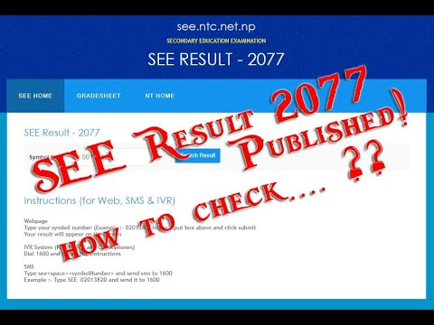 How to Check SEE SLC 2075 Result With Grade Sheet GPA - SEE