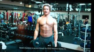Geico gym bro commercial