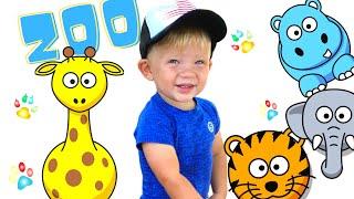 Едем в зоопарк ! Соломошка в парке с Динозаврами , животными и развлечения для детей.