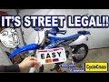 My YZ450FX is Street Legal!   Make a Dirt Bike STREET LEGAL Easy