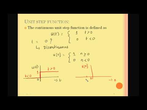 SIGNALS AND SYSTEMS|SINGULARITY FUNCTION|ECE TUTORIAL|Unit step