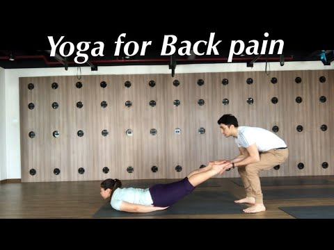 yoga for back pain and slip disc with master ajay  youtube