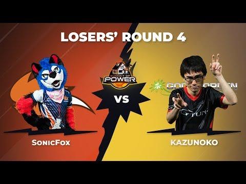 SonicFox vs Kazunoko - Losers\' Round 4 - DBFZ Summit of Power