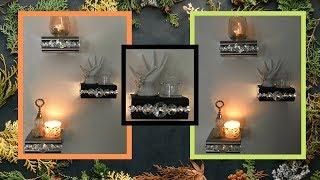EASY DIY   GLAM LIGHTED WALL DECOR SHELF   DOLLAR TREE DIY