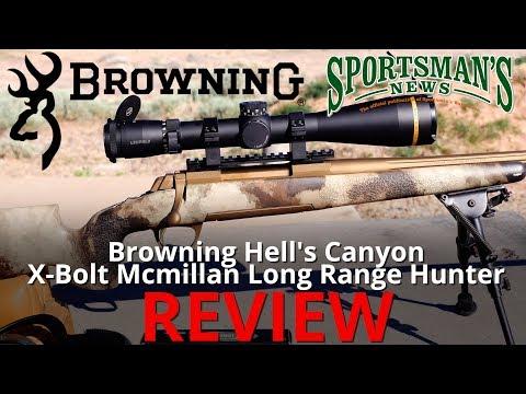Browning Hells Canyon X Bolt McMillan Long Range Hunter