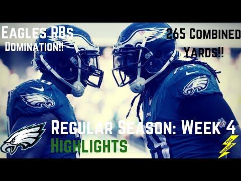 Eagles RBs (Blount,Smallwood,Clement) Week 4 Regular Season Highlights 265 Yards! | 10/01/2017