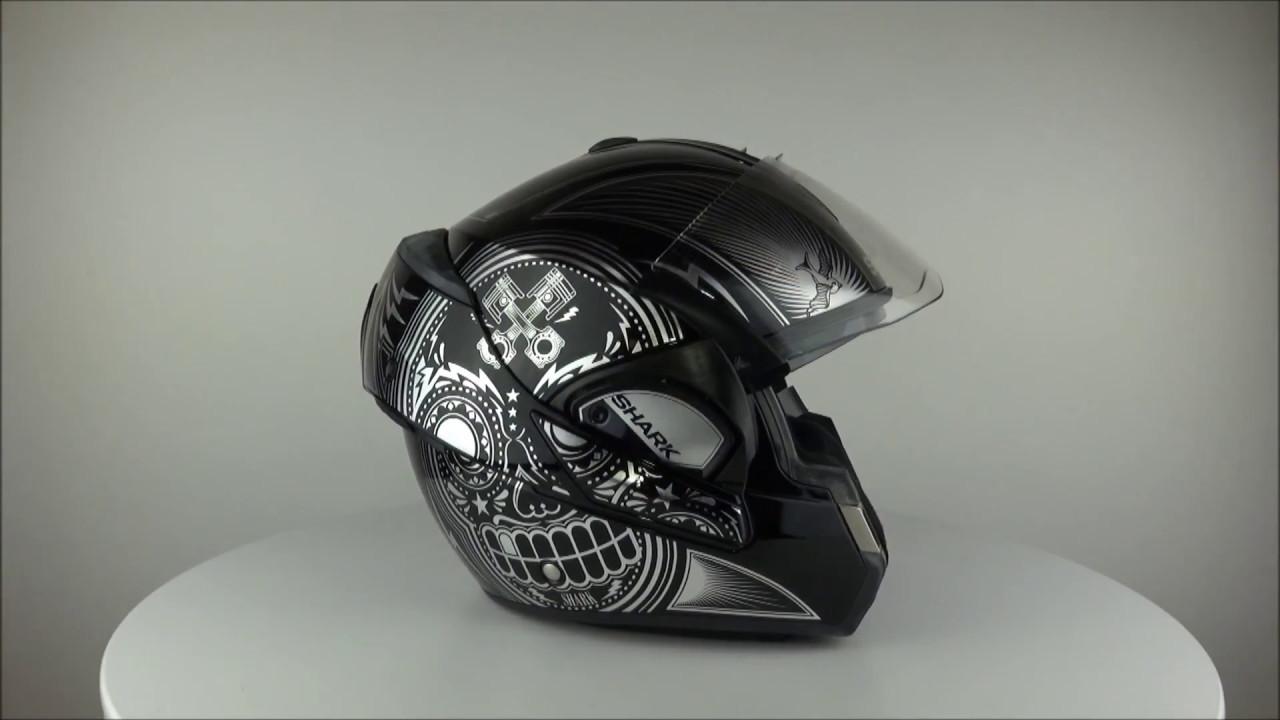8d0bf55ffba34b SHARK Evoline 3 Mezcal Black Chrome KUK Helmet - Championhelmets.com ...