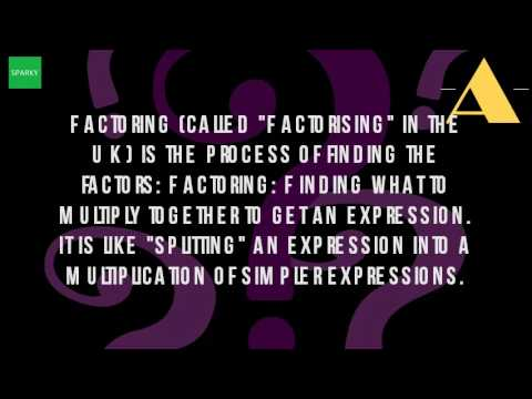 What Is Factoring In Algebra?