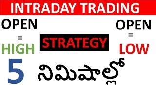 OPEN HIGH LOW (OHL)Strategy(Telugu)  for Intraday Trading