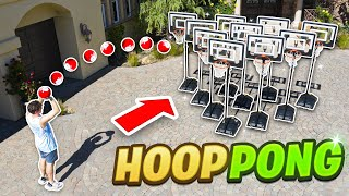 We Played CUP PONG With BASKETBALL HOOPS!