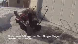 Snow Blower Test / Review: Craftsman 5.5 HP Two-Stage versus Toro Single Stage 5HP