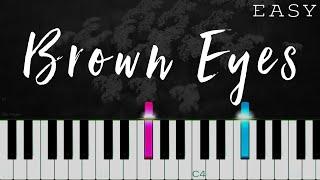 Destiny's Child x Justin Vasquez - Brown Eyes   EASY Piano Tutorial