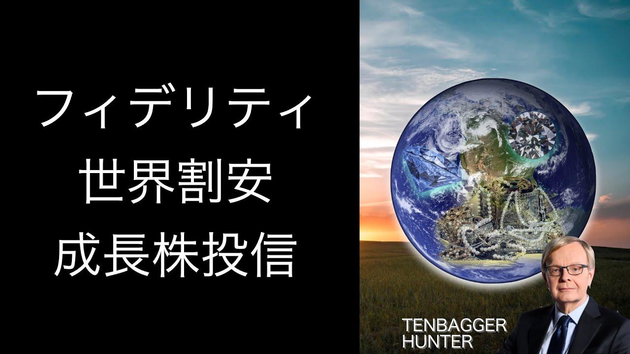 投信 株 成長 世界 フィデリティ 割安 フィデリティ投信の「テンバガー・ハンター」が設定1周年で基準価額は約2倍、残高は2000億円に到達