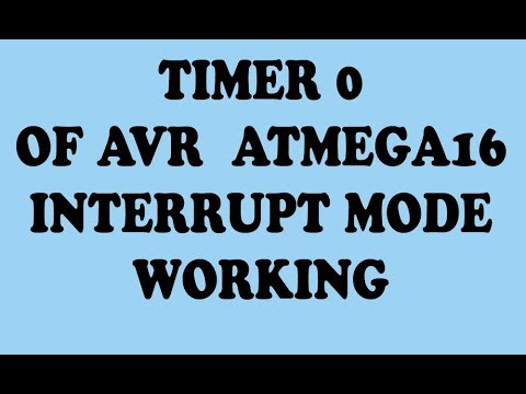 How to use Timer 0 interrupt mode of Atmega16 | internal interrupts coding  in code vision AVR