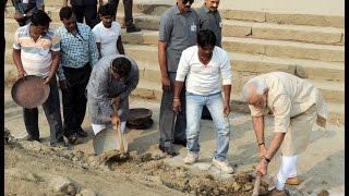 #SwachhBharat: PM Modi launches Clean Ganga Initiative at Assi Ghat, Varanasi