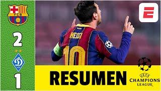 Barcelona 2-1 Dynamo Kyiv GOLES de Messi y Piqué. Ter Stegen, FIGURA en su vuelta | Champions League