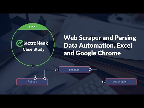 Excel and Chrome automation, browser web scraper, and parsing data – Case Study – electroNeek RPA