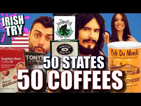 Irish People Try '50 COFFEES' From '50 AMERICAN STATES!!