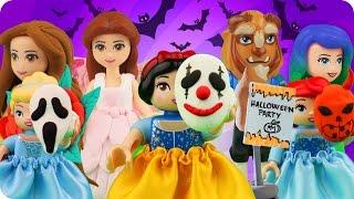 ♥ LEGO Disney Princess HALLOWEEN PARTY Compilation (Ariel, Belle, Rapunzel, Frozen Elsa...)