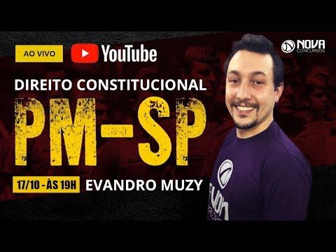 Aula de Direito Constitucional - concurso Soldado PM-SP #MissaoSoldadoPMSP