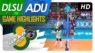 UAAP 80 WV: DLSU vs. AdU | Game Highlights | April 11, 2018