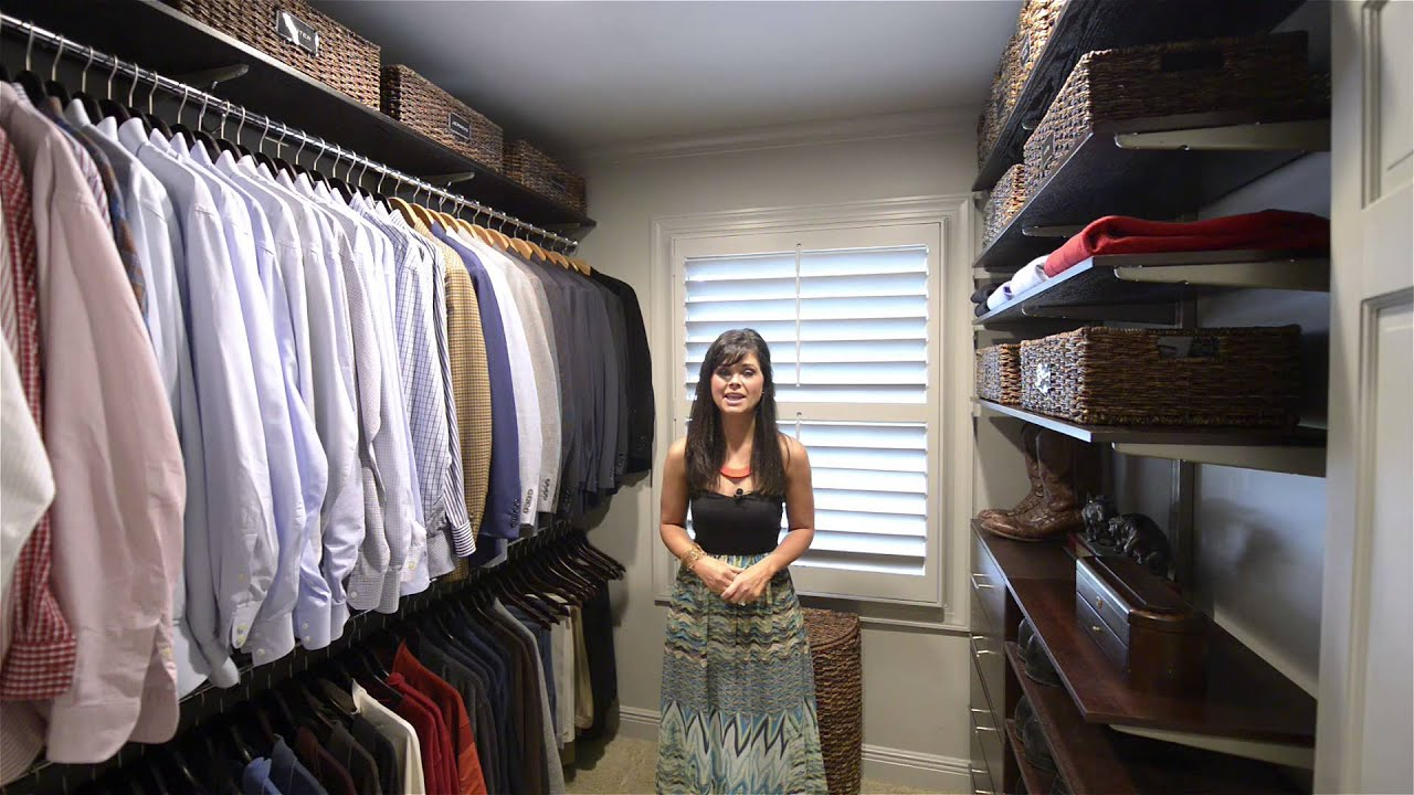 How to Organize a Men s Walk in Closet
