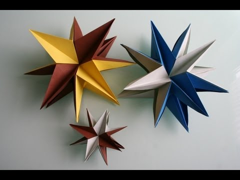 origami 3d stern star youtube. Black Bedroom Furniture Sets. Home Design Ideas