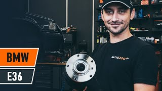 rear and front Wheel bearing kit change on BMW 3 (E36) - video instructions