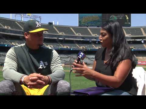"""At The Plate"" With The Oakland A's Bruce Maxwell"