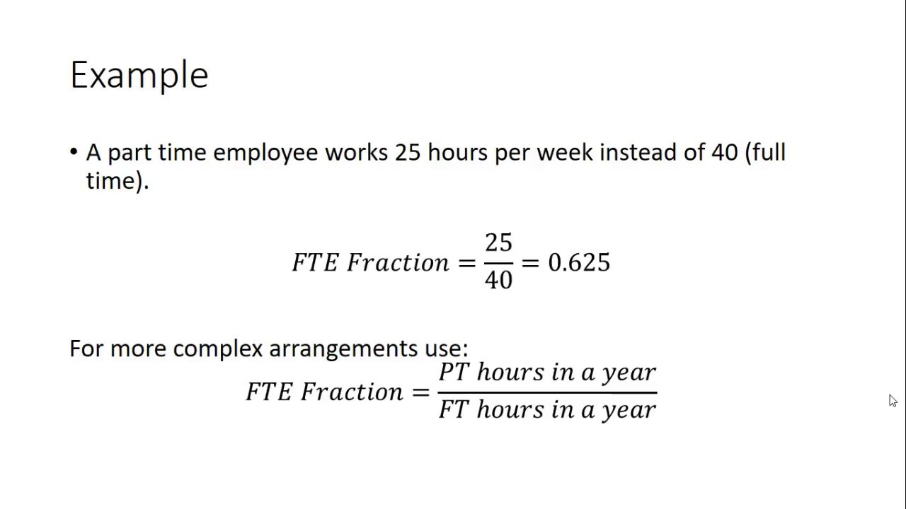 how to calculate fte salary