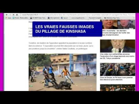 FAUSSES PHOTOS DES PILLAGES DE KINSHASA