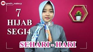 7 Tutorial Hijab Segi Empat Simple Sehari Hari