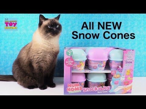Series 2 Num Noms Snow Cones Snackables Wave 2 Toy Review Unboxing | PSToyReviews