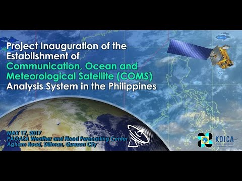 Project Inauguration of the Establishment of Communication, Ocean and Meteorological Satellite
