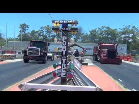 Rent A Truck >> DUMP TRUCK DRAG RACING EL PATRON DEL MAL - YouTube