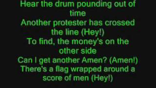 Green Day - Holiday with lyrics!